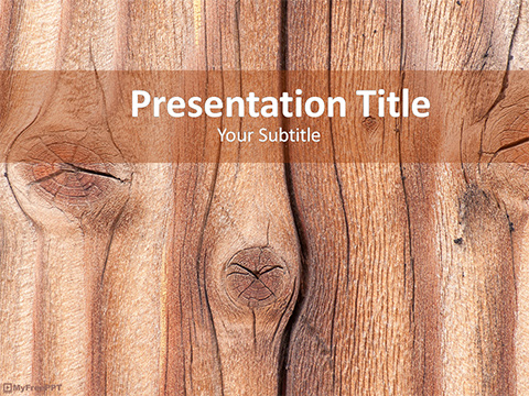 Free Wood Plank PowerPoint Template
