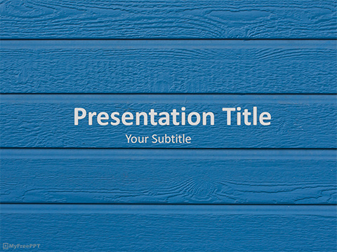 Free Wood Siding PowerPoint Template