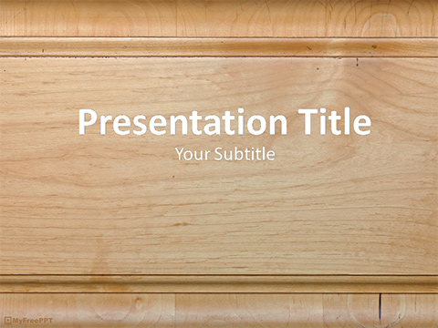 Wooden Board PowerPoint Template