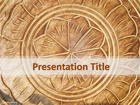 Free Wooden Carving PowerPoint Template