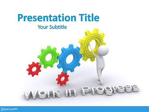 Free Work in Progress PowerPoint Template