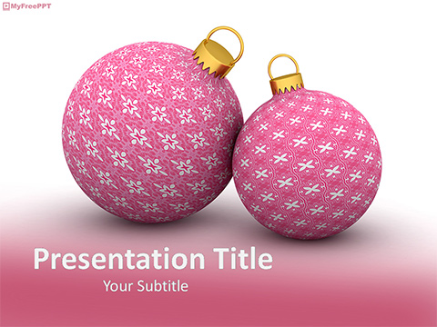 Xmas Decorative Baubles PowerPoint Template
