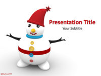 Free Xmas Snowman PowerPoint Template