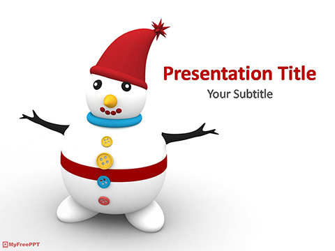 Free Xmas Snowman Powerpoint Template Download Free