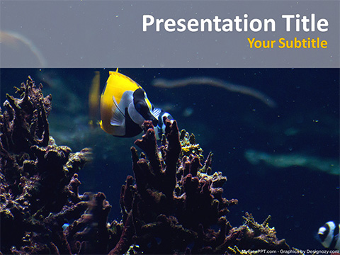 Free Yellow Fish PowerPoint Template