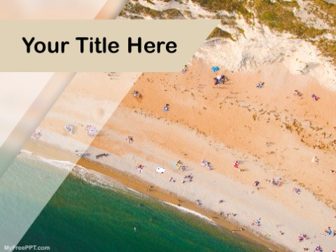 Free Beach Privacy PPT Template
