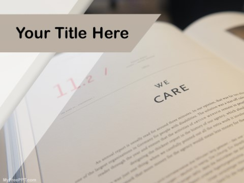 Free Book Chapter PPT Template