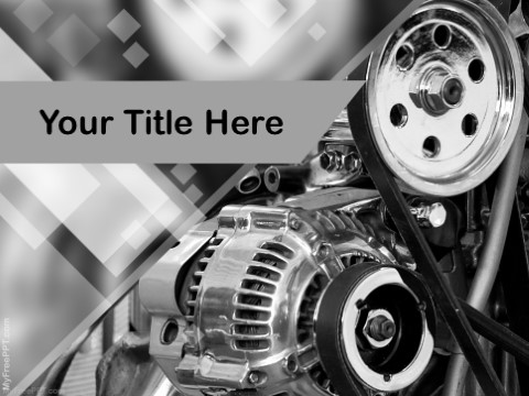 Free Car Engine PPT Template