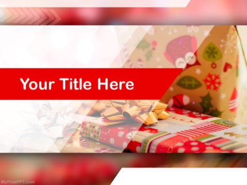 Free Christmas Presents PPT Template