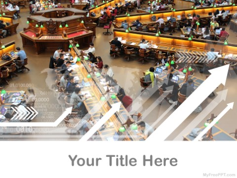 Free College Library PPT Template