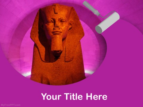 Free Egyptian Paharaoh PPT Template