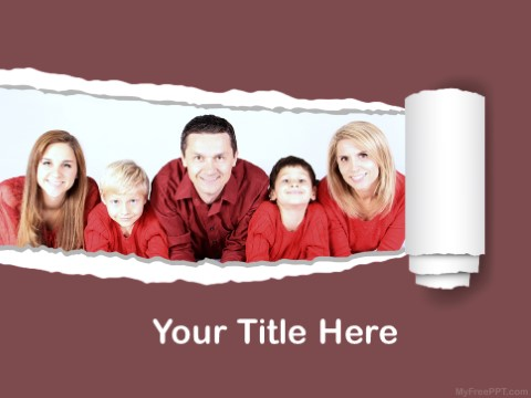 Free Family Photography PPT Template