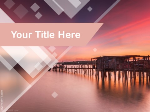 Free Fishing Dock PPT Template