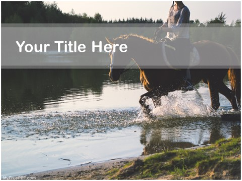 Free Horse Riding PPT Template