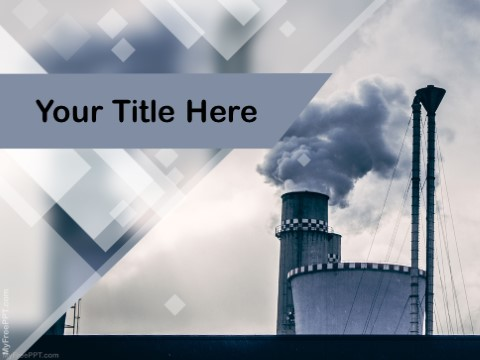 Free Industrial Smoke Pollution PPT Template