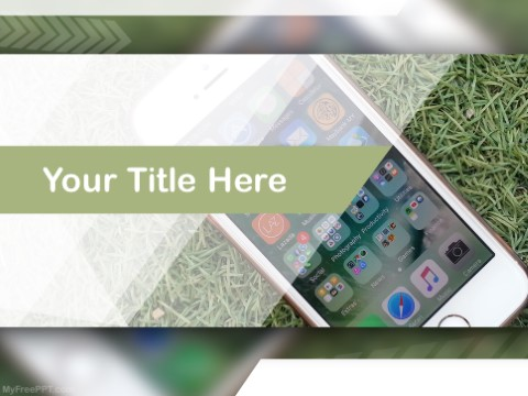 Free Iphone Apps PPT Template
