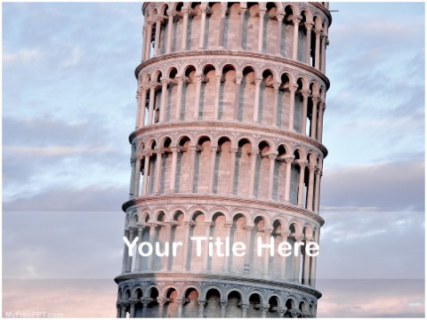 Free Leaning Tower Of Pisa In Italy PPT