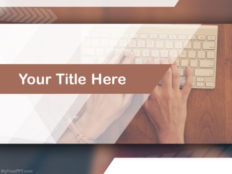 Free Learning Typing PPT Template