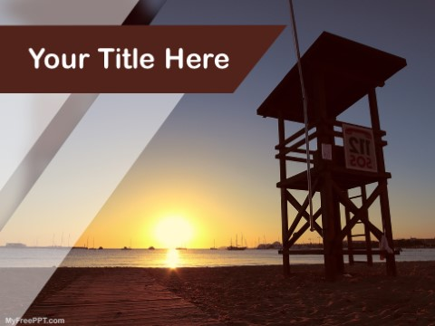 Free Lifeguard Tower PPT Template