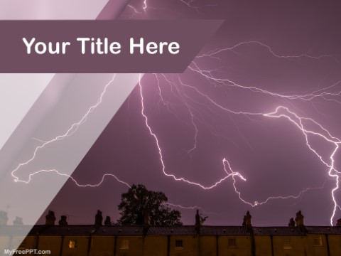 Free Lighting Strike PPT Template
