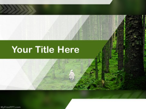 Free Lost In Woods PPT Template