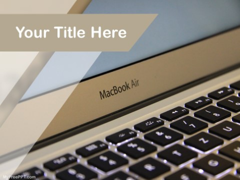 Free Macbook Air PPT Template