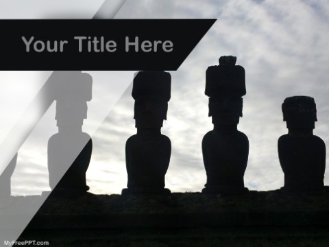 Free Moai Statue In Easter Island PPT Template