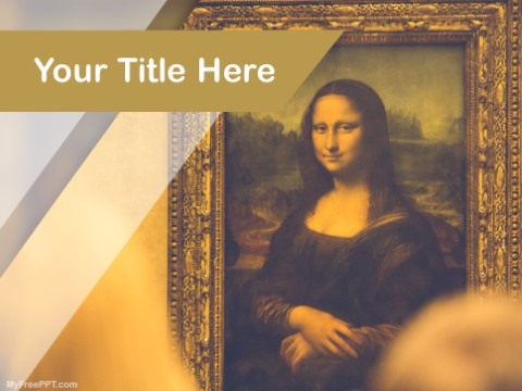 Free Mona Lisa Painting PPT Template