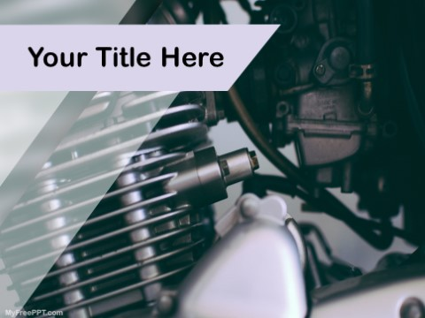 Free Motorcycle Engine PPT Template