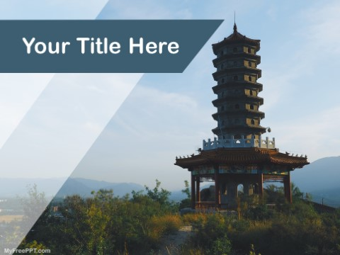 Free Pagoda Temple PPT Template