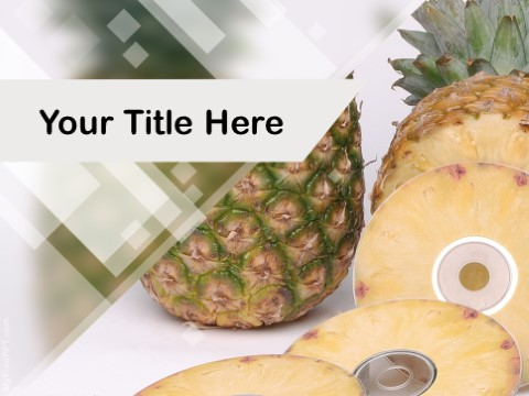 Free Pineapple PPT Template