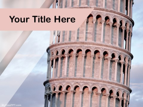 Free Pisa Tower PPT Template