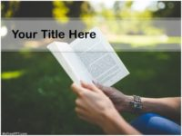 Free Reading Books PPT Template