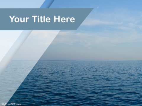 Free Salt Water PPT Template