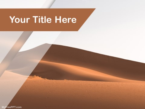 Free Sand Dunes PPT Template
