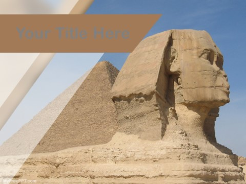 Free Sphinx Of Giza PPT Template