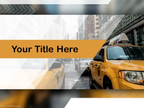 Free Taxicab PPT Template