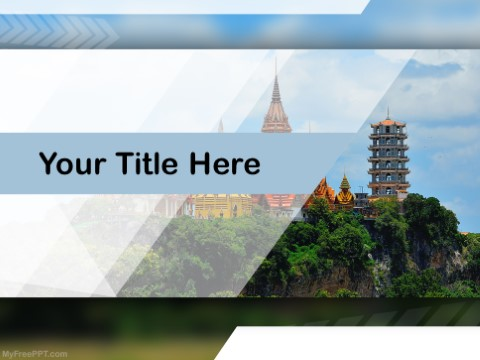Free Thailand Temple PPT Template