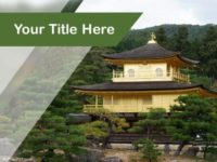 Free Zen Buddhist Temple PPT Template